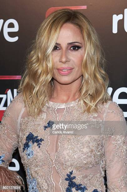 Spanish singer Marta Sanchez attends 'Corazon' TV programme 20th Anniversary at the Alma club on June 27 2017 in Madrid Spain