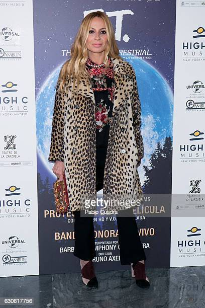 Spanish singer Marta Sanchez attends the ET 35th anniversary concert at the Zarzuela Theater on December 28 2016 in Madrid Spain