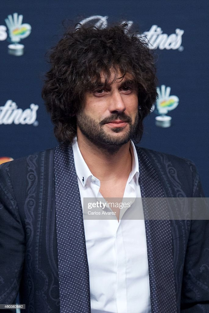Spanish singer Melendi attends the 40 Principales Awards 2014 photocall at the Barclaycard Center on December 12 2014 in Madrid Spain
