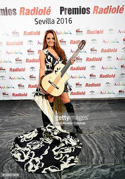 Spanish singer Melody attends the Radiole Awards 2016 photocall at FIBES Sevilla on November 3 2016 in Seville Spain