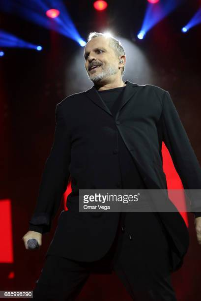 Spanish singer Migue Bose performs during the concert as part of his 2017 'Estare' Tour in the United States at Music Hall on May 19 2017 in Dallas...