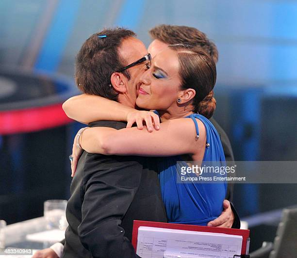 Spanish singer Monica Naranjo and Angel Llacer during the final contest of the Tv programme 'Tu Cara Me Suena' at Antena 3 Studios on March 27 2014...