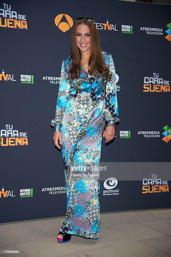 Spanish singer Monica Naranjo attends the 'Tu Cara Me Suena' new season presentation during the day four of 5th FesTVal Television Festival 2013 at the Villa Suso Palace on September 5, 2013 in Vitoria-Gasteiz, Spain.