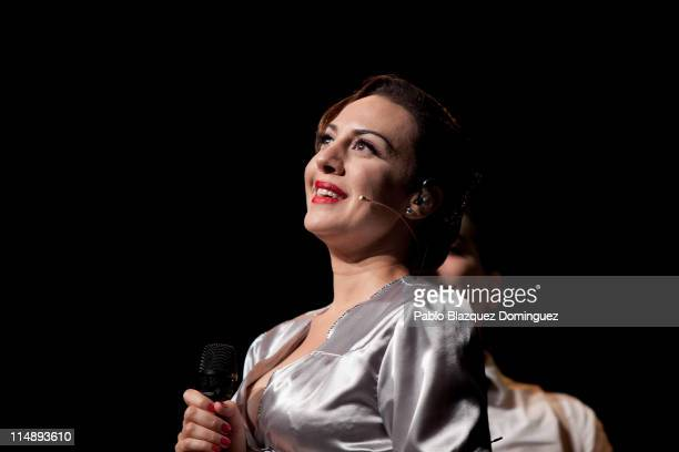 Spanish singer Monica Naranjo performs live in concert at Theatre Arteria Coliseum on May 27 2011 in Madrid Spain