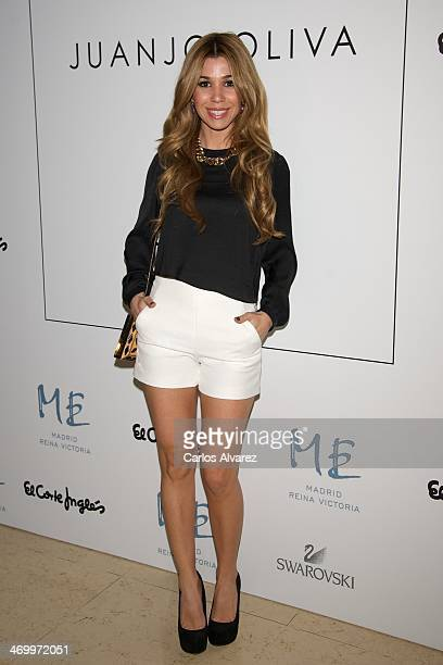 Spanish singer Natalia attends Juanjo Oliva show for Elegy party at the ME Hotel on February 17 2014 in Madrid Spain