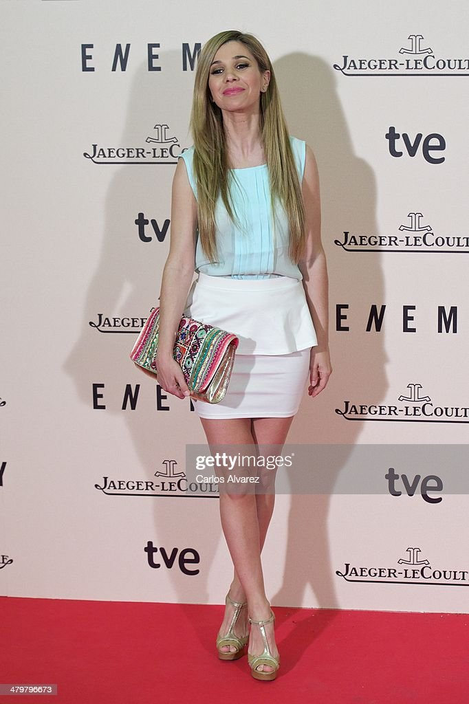 Spanish singer Natalia attends the 'Enemy' premiere at the Palafox cinema on March 20, 2014 in Madrid, Spain.