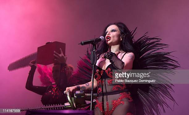 Spanish singer Olvido Gara of Fangoria performs live in concert at Palacio de los Deportes on May 13 2011 in Madrid Spain
