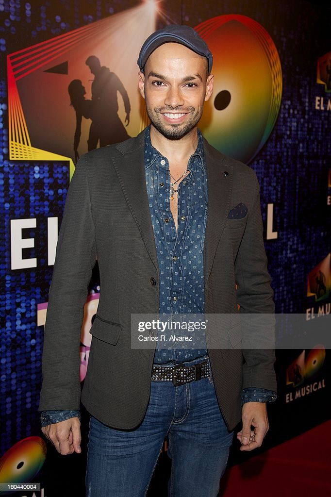 Spanish singer Paco Arrojo attends '40 El Musical' premiere at the Rialto Theater on January 31, 2013 in Madrid, Spain.