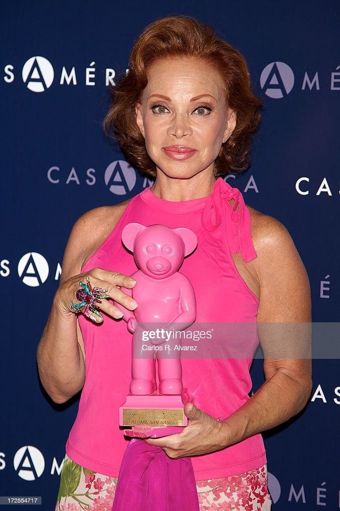 Spanish singer Paloma San Basilio receives the 'Muestra-T' 2013 award at the Casa America on July 3, 2013 in Madrid, Spain.