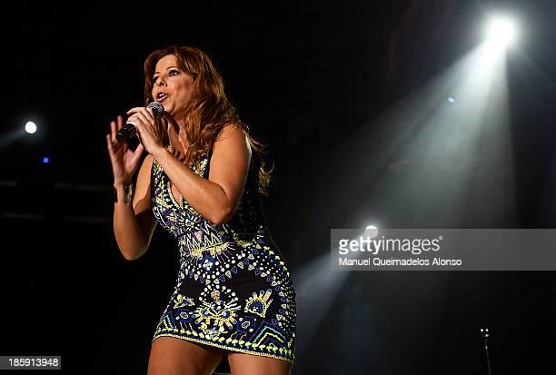 Spanish singer Pastora Soler performs live in Cadena Dial 'Lo Mejor De Aqui Y De Alli' 2013 at Pabellon Municipal Fuente de San Luis on October 25...