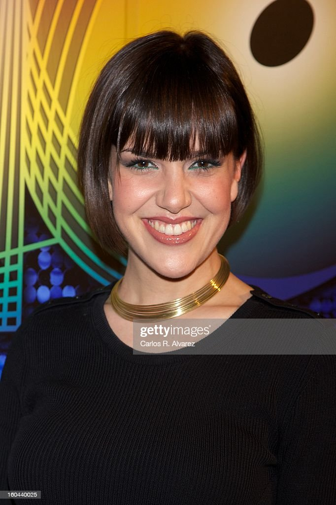 Spanish singer Roko attends '40 El Musical' premiere at the Rialto Theater on January 31, 2013 in Madrid, Spain.