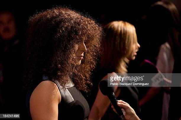 Spanish singer Rosa Lopez and Carmen Chacon attend 'Cuida De Ti' 2012 Awards at Casa de America on October 16 2012 in Madrid Spain