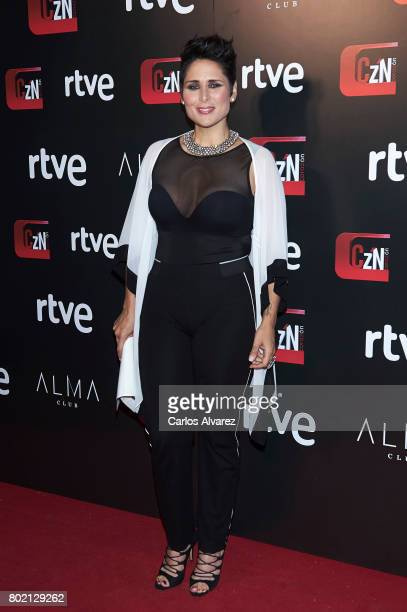 Spanish singer Rosa Lopez attends 'Corazon' TV programme 20th Anniversary at the Alma club on June 27 2017 in Madrid Spain