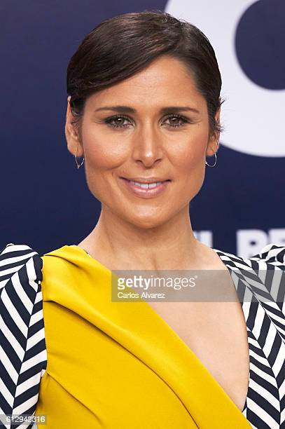 Spanish singer Rosa Lopez attends 'OT 1 El Reencuentro' televison talent show at TVE studios on October 6 2016 in Madrid Spain