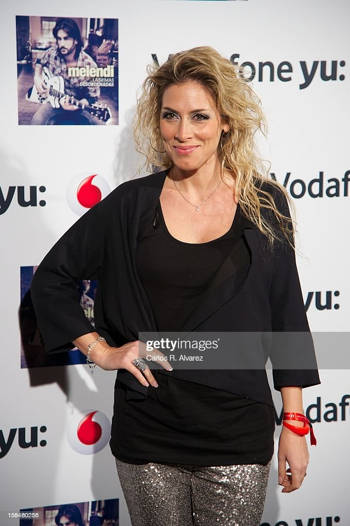Spanish singer Roser attends the Melendi concert at La Riviera Club on December 17, 2012 in Madrid, Spain.