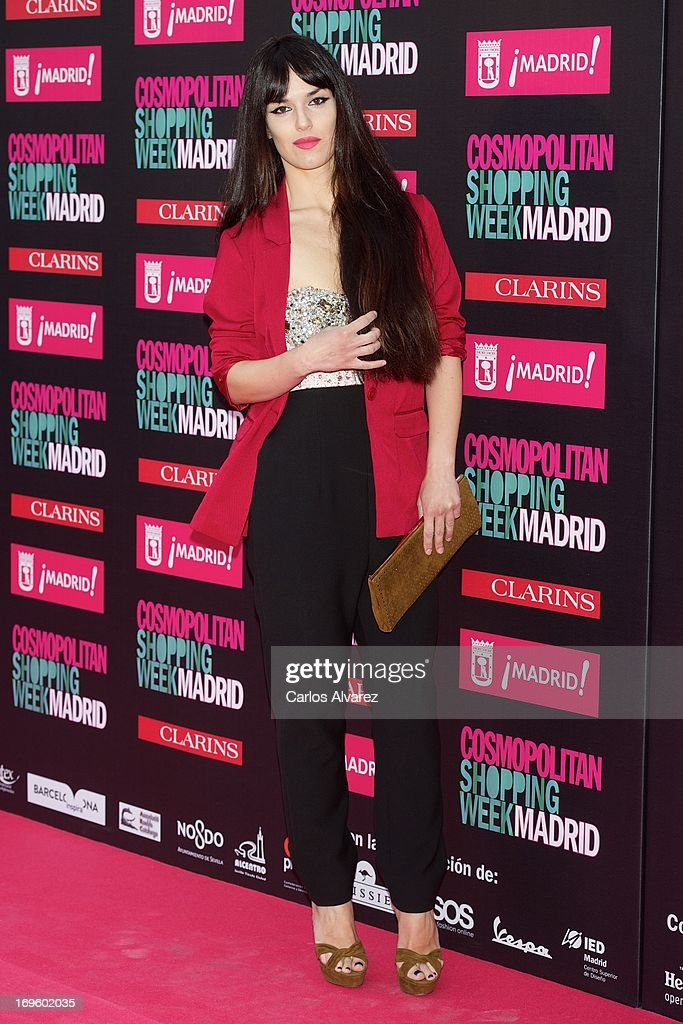 Spanish singer Sara Vega attends the 'Cosmopolitan Shopping Week' party at the Plaza de Callao on May 28, 2013 in Madrid, Spain.