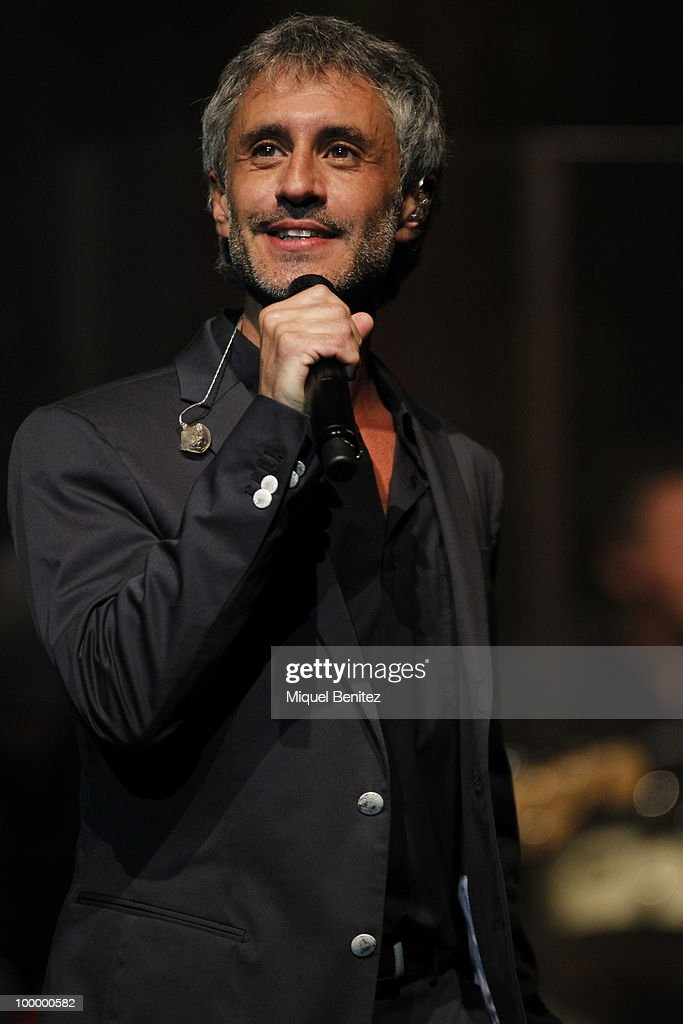 Spanish singer Sergio Dalma is seen performing during a concert at Auditori del Forum on May 19, 2010 in Barcelona, Spain.