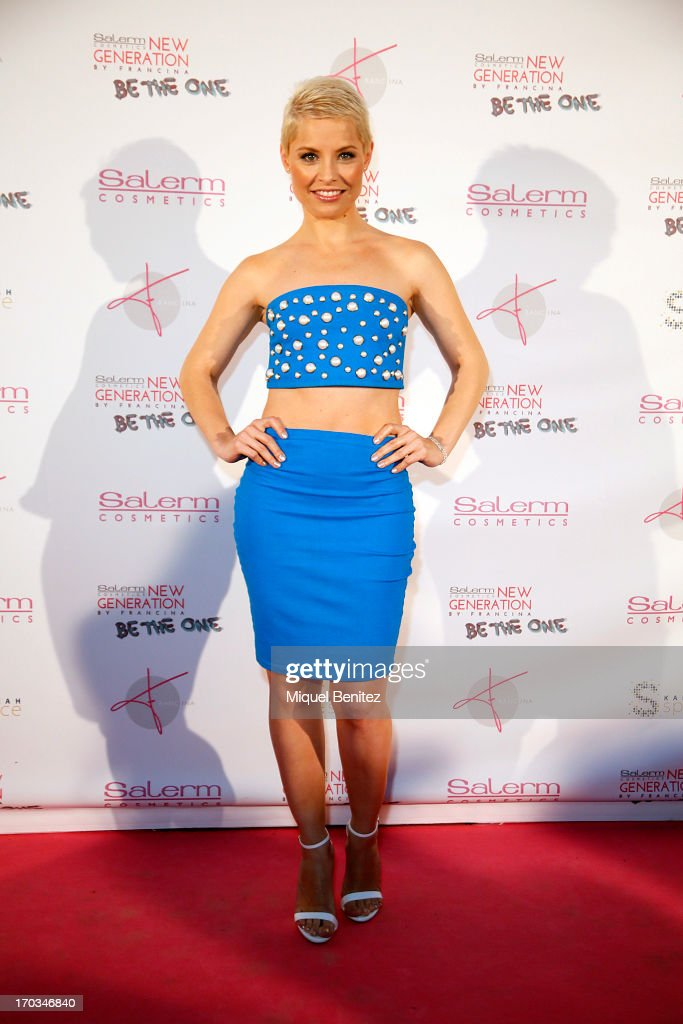 Spanish singer Soraya Amelas poses on the red carpet of New Generation by Francina on June 11, 2013 in Barcelona, Spain.