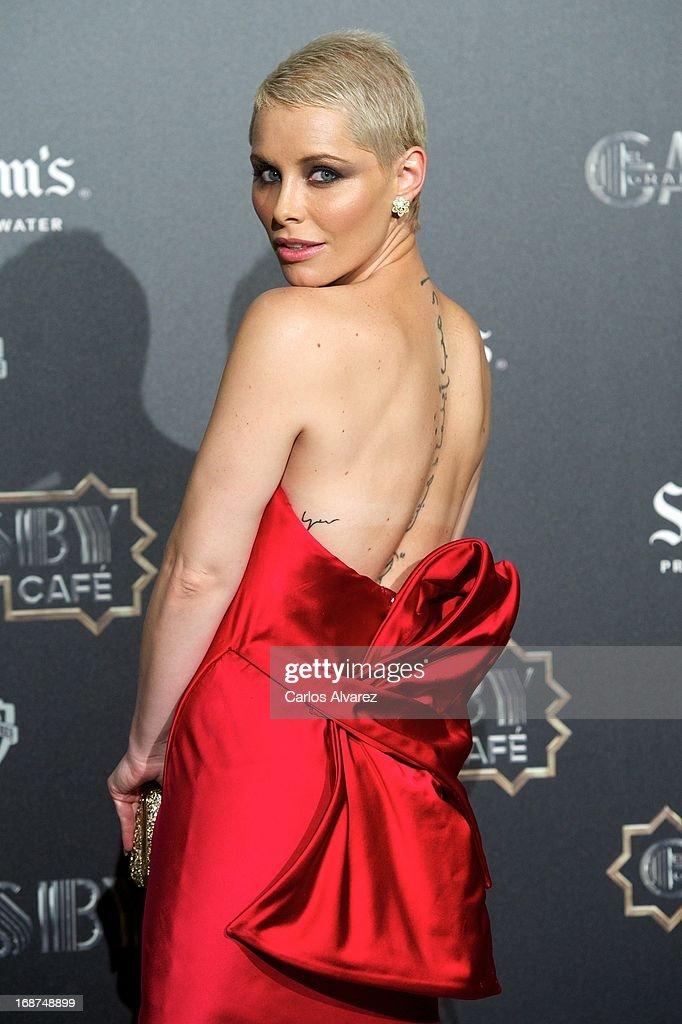 Spanish singer Soraya Arnelas attends the 'El Gran Gatsby Cafe' inauguration party at the Circulo de Bellas Artes on May 14 2013 in Madrid Spain