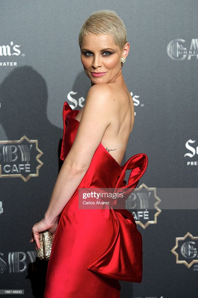 Spanish singer Soraya Arnelas attends the 'El Gran Gatsby Cafe' inauguration party at the Circulo de Bellas Artes on May 14, 2013 in Madrid, Spain.