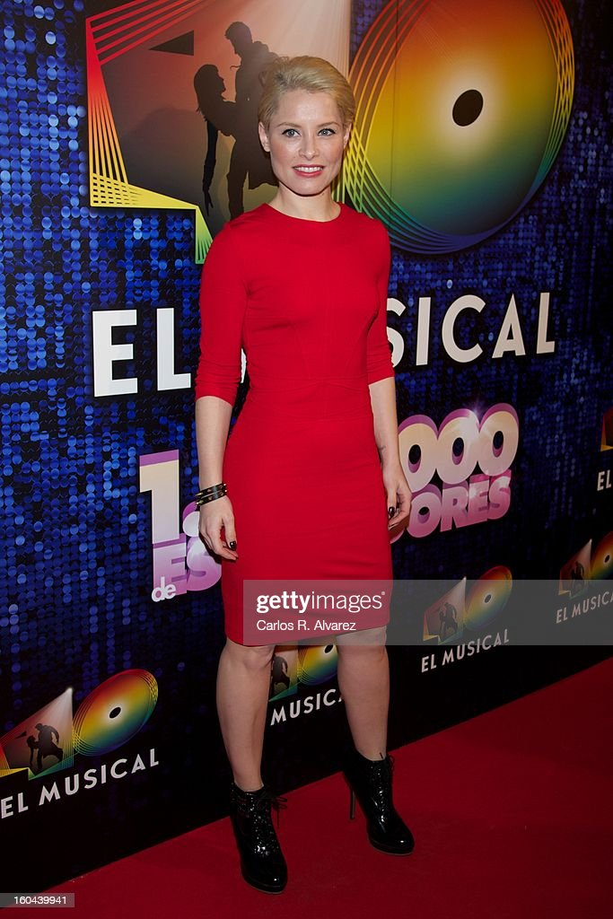Spanish singer Soraya attends '40 El Musical' premiere at the Rialto Theater on January 31, 2013 in Madrid, Spain.