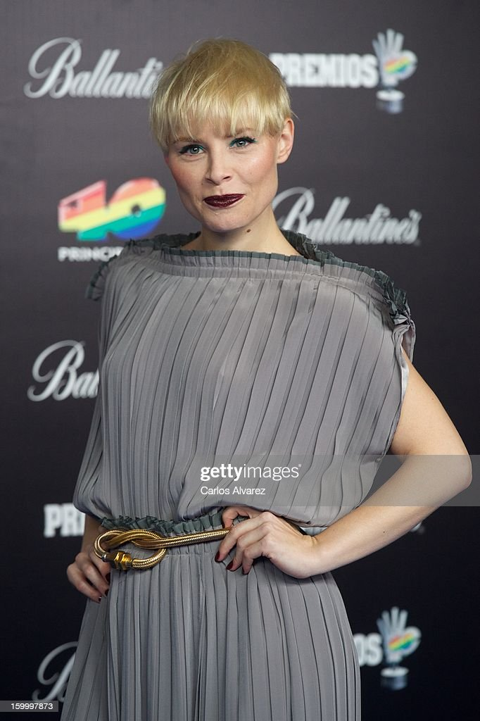 Spanish singer Soraya attends '40 Principales Awards' 2012 photocall at Palacio de los Deportes on January 24, 2013 in Madrid, Spain.