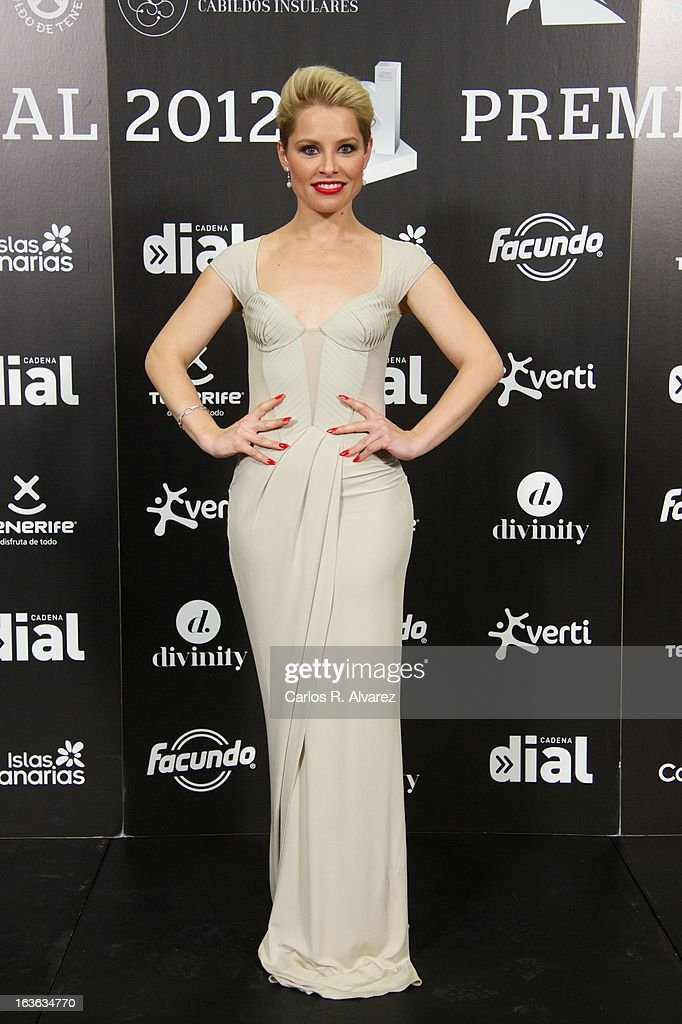 Spanish singer Soraya attends Cadena Dial awards 2013 at the Adan Martin auditorium on March 13, 2013 in Tenerife, Spain.