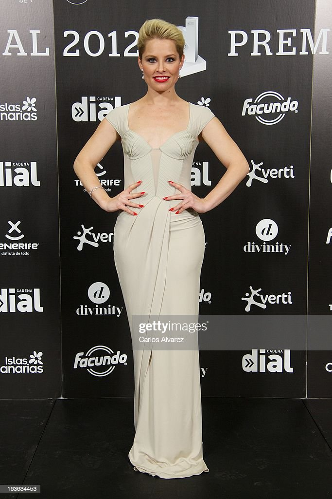 Spanish singer Soraya attends Cadena Dial awards 2013 press room at the Adan Martin auditorium on March 13, 2013 in Tenerife, Spain.