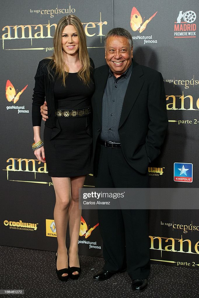 Spanish singer Tamara (L) attends the 'The Twilight Saga: Breaking Dawn - Part 2' (La Saga Crepusculo: Amanecer Parte 2) premiere at the Kinepolis cinema on November 15, 2012 in Madrid, Spain.