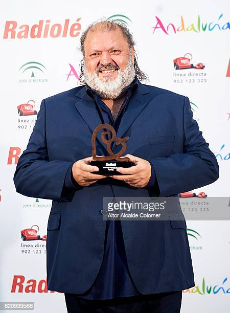 Spanish singer Vicente de Castro Gimenez 'Parrita' attends the Radiole Awards 2016 photocall at FIBES Sevilla on November 3 2016 in Seville Spain