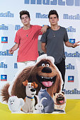 Spanish singers Jesus Oviedo and Daniel Oviedo 'Gemeliers' attend 'Mascotas' premiere at Kinepolis cinema on July 21 2016 in Madrid Spain