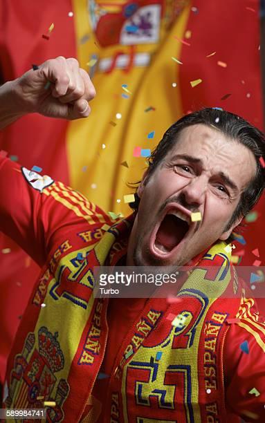 Spanish Soccer Fan Shouting