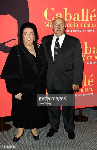 Spanish Soprano Montserrat Caballe and her husband Bernab Marti