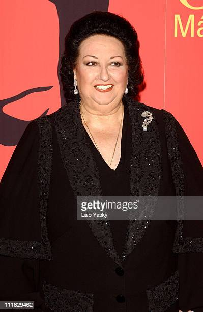 Spanish Soprano Montserrat Caballe during 'Caballe Mas Alla de la Musica' Premiere Madrid at Callao Cinema in Madrid Spain