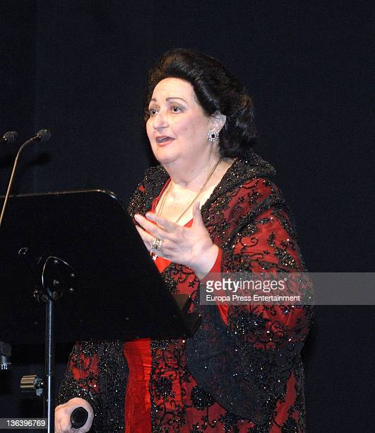 Spanish soprano Montserrat Caballe performs in concert commemorating the 50th anniversary of the debut of Montserrat Caballe at Gran Teatre del Liceu...