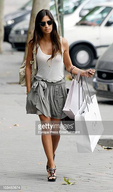Spanish sport journalist Sara Carbonero is seen sighting on August 19 2010 in Madrid Spain