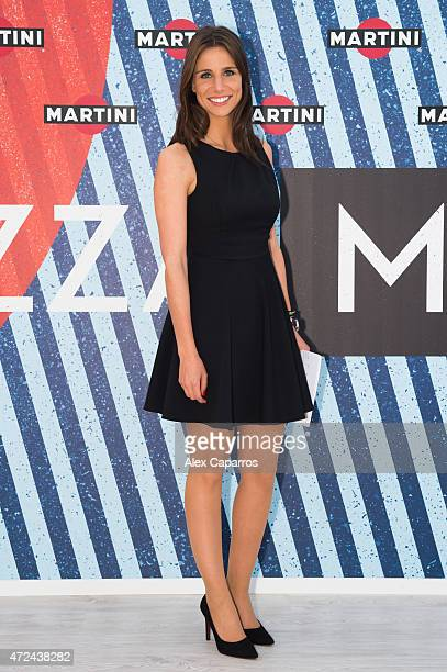 Spanish sports presenter Lucia Villalon arrives at Terrazza MARTINI to announce Bar Refaeli as the global MARTINI race ambassador The VIP party...