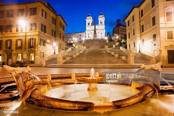 Spanish Steps and the Trinita del Monti Church Rome Italy