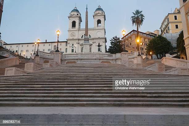 Spanish Steps and Trinità dei Monti in Rome, Italy