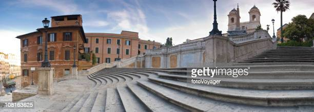 Spanish Steps in Rome at Sunrise
