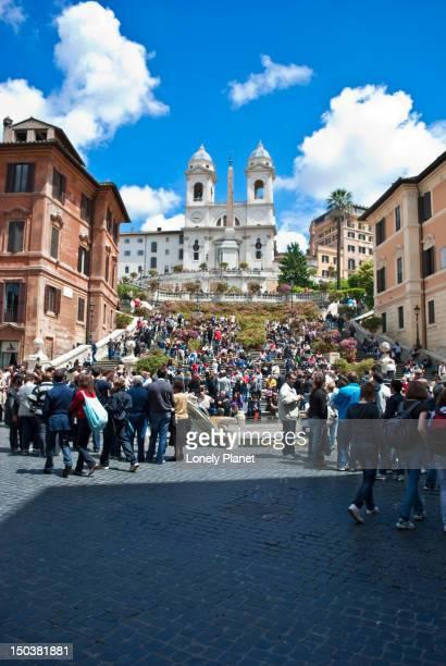 Spanish Steps, Piazza di Spagna and Chiesa della Trinita dei Monti.