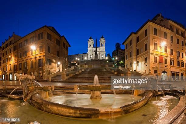 Spanish Steps Piazza di Spagna Fontana della Barcaccia Rome Italy