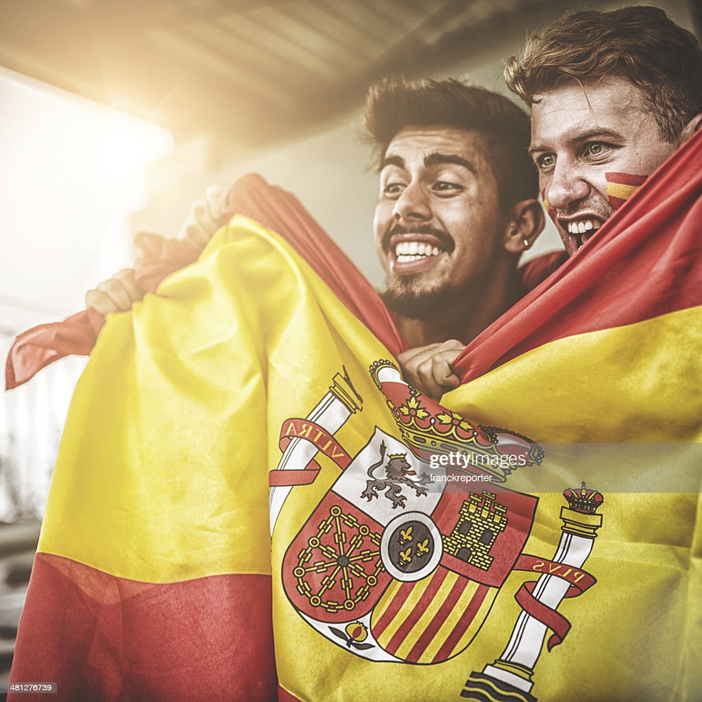 spanish supporters at stadium
