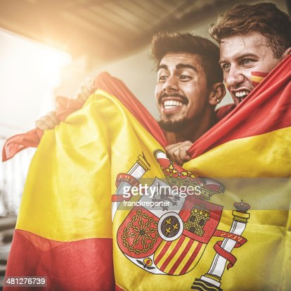 spanish supporters at stadium