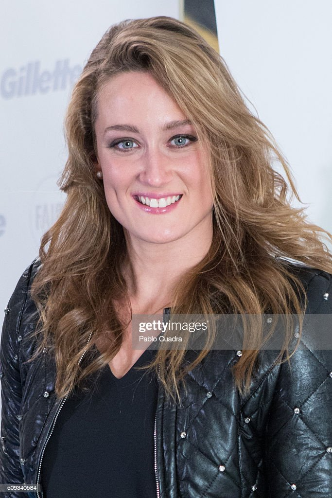 Spanish swimmer <a gi-track='captionPersonalityLinkClicked' href=/galleries/search?phrase=Mireia+Belmonte&family=editorial&specificpeople=5120453 ng-click='$event.stopPropagation()'>Mireia Belmonte</a> presents P&G project for Olympic Games at Villa Magna hotel on February 10, 2016 in Madrid, Spain.