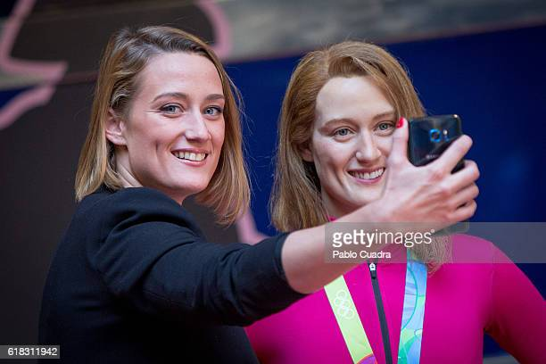 Spanish swimmer Mireia Belmonte unveils her wax figure at the Wax Museum on October 26 2016 in Madrid Spain