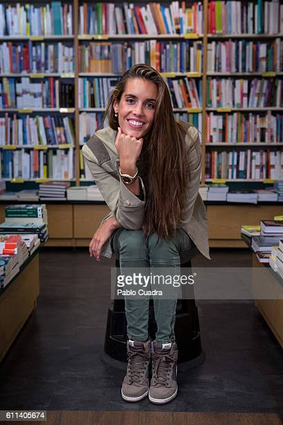 Spanish swimmer Ona Carbonell presents her book 'Tres Minutos Cuartenta Segundos' at 'La Casa del Libro' on September 29 2016 in Madrid Spain