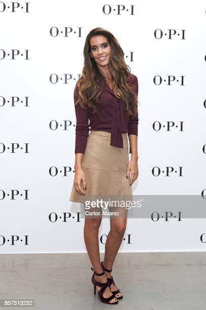 Spanish synchronized swimmer Ona Carbonell is presented as the new face of OPI on October 4 2017 in Madrid Spain