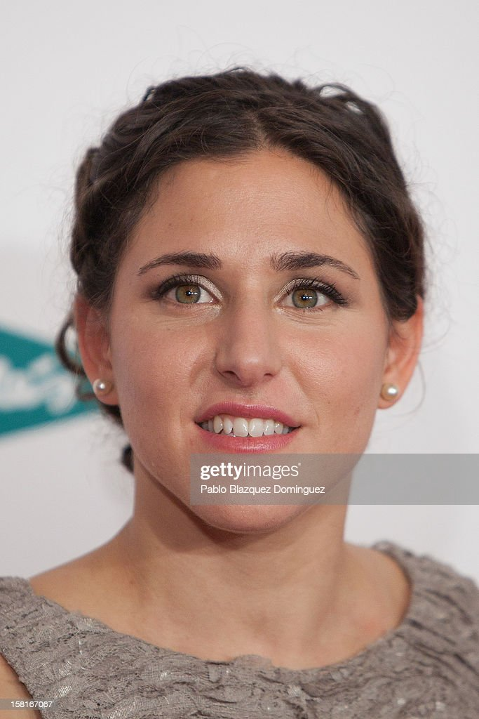 Spanish team football player Veronica Boquete attends 'As Del Deporte' Awards 2012 at The Westin Palace Hotel on December 10, 2012 in Madrid, Spain.