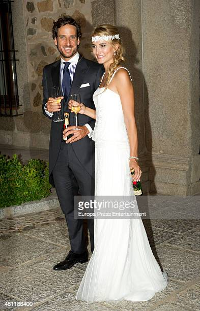 Spanish tennis player Feliciano Lopez and model Alba Carrillo get married on July 17 2015 in Toledo Spain